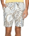 Blend into your tropical surrounding with these floral print swim trunks from Tommy Bahama.