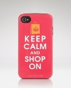 CaseMate crafts a cute reminder to Keep Calm and Shop On, with this iPhone case, cleverly designed to make a statement each time you answer.