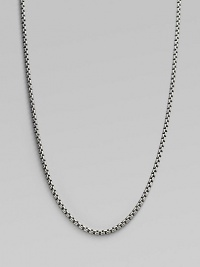 A bold chain crafted of signature Yurman links in sterling silver with a 14k gold tag, to wear alone or with your own enhancer. Sterling silver and 14k yellow gold Length, about 32 Lobster clasp Made in USA