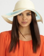 A wide, mesh brim and corded band make this a perfect warm weather accessory. 90% toyo paper/10% cottonMesh accented brimCorded band with knot detail Brim, about 4Hand washMade in USA of imported fabrics