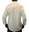 Jimi Hendrix By English Day Parade Men's Dress Shirt White Size M