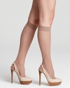 Sheer satin knee highs with a luxurious feel and sleek design. Style #0B113