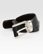 Versatility is key with this smooth, reversible leather style with palladium-plated buckle, with logo detail.LeatherAbout 1¼ wideImported