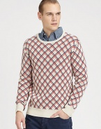 EXCLUSIVELY AT SAKS. A preppy classic gets an instant update with this colorful argyle-patterned sweater, woven in soft, comfortable cotton.CrewneckRibbed knit collar, cuffs and hemCottonDry cleanImported