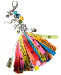 Carry a little luck with you wherever your travels lead with thie key chain from Live Worldly. Adorned with a colorful assortment of Brazilian wish ribbons (brazilets) and good luck charms. As part of a centuries-old Bahian tradition, it is meant to bring luck in life and in love to those who use it. A portion of the proceeds from this item is dedicated to saving the Brazilian rainforest through the Nature Conservancy's Plantabillion.org. Discover Brasil. The bold colors. The exotic scents. The sensual textures. The natural sensations. Only at Macy's.
