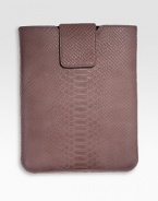 Secure and protect your first- and second-generation iPads within this python-embossed leather case, thoughtfully designed with chamois-cloth lining and secure snap tab.Fits first- and second-generation iPadsPython-embossed leather8½W X 10H Made in USA