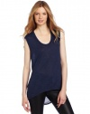 BCBGMAXAZRIA Women's Coby Back Draped Sleeveless Top