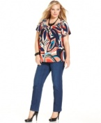 A classic fit defines Style&co.'s straight leg plus size jeans-- pair them with the season's latest tops!