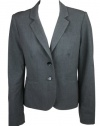 Calvin Klein Womens Stretch Double Button Blazer Jacket