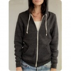 Alternative Apparel Unisex The Rocky Eco-Fleece Full Zip Hoodie