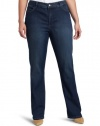 Not Your Daughter's Jeans Women's Plus-Size Marilyn Straight Leg Jean, Louisiana Wash, 18W