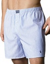 Polo Ralph Lauren Men's Woven Striped Boxers Light Blue