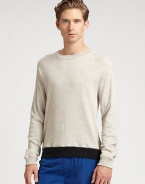 A casual staple with extraordinary details, this crewneck sweatshirt is comfortably shaped in a cotton knit with side zipper detailing, contrast hem and signature logo detail.CrewneckBanded cuffs and hemCottonMachine washImported