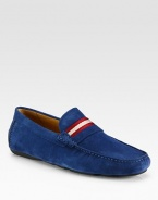 Classic design in smooth suede with stripe detail.Suede upperLeather liningPadded insoleRubber soleImported