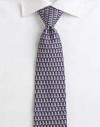 A handsome design woven with a hint of whimsy in fine Italian silk.SilkDry cleanMade in Italy