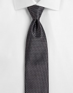 EXCLUSIVELY OURS. An essential element of sartorial style in fine, basketweave-patterned silk. SilkDry cleanMade in USA