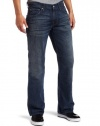 7 For All Mankind Men's 'A' Pocket Classic Bootcut Jean in Dusk Blue