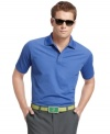 This Izod golf shirt features moisture wicking and UV protection to keep you cool on the course.