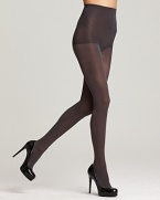 Basic opaque tights with a control top for a smooth silhouette. Style #412