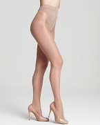 Strut your stuff in sheer, high cut hosiery that slims tummy, waist and upper thighs. Style #0B112