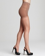 Sleek nude hosiery that matches the skin and slims tummy, waist and upper thighs. Style #D55