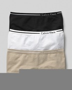 Calvin Klein Underwear seamless hipster. A comfortable seamless hipster logo and stripe detail on waistband. Cotton gusset. Style #D2890
