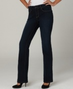 This figure-flattering bootcut denim by Not Your Daughter's Jeans goes from day to night with ease-pair with flats for daytime errand-running, then your favorite heels for a night out with girlfriends.