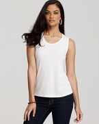 Dressed up with denim and chic accessories or effortlessly paired with your favorite summer shorts, Eileen Fisher's silk jersey tank lends feminine ease to everyday looks.