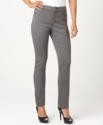 Whatever you call them – denim leggings, pull-on jeans or jeggings – this petite pair from Not Your Daughter's Jeans fits a woman's body perfectly. The pewter wash gives them an fashion-forward edge!