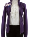 Juicy Couture Traincase Purple Long Sleeve Juicy Skull Zip Track Jacket (Petite)