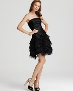 Faviana Couture Dress - Feather Skirt