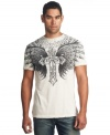 This ornate graphic t-shirt from Affliction shows your casual cool.