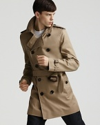 An undisputed classic from Burberry, the classic trench coat brings understated style to blustery days.