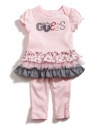 GUESS Kids Girls Skimp and Leggings Two-Piece Set, LIGHT PINK (0/3M)
