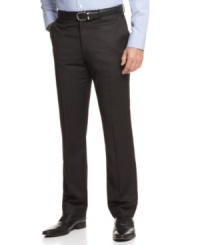 With a slim fit and a subtle pinstripe, these pants from Perry Ellis are modern minimalism at its finest.
