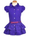 Guess Corduroyal Dress (Sizes 2T - 4T) - purple, 3t