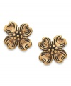 Fashion-forward flowers. Jody Coyote's brass stud earrings are set in sterling silver and evoke a look that's truly timeless. Approximate diameter: 3/8 inch.