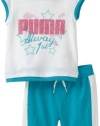 Puma - Kids Baby-girls Infant Tee And Bermuda Short Set, Raspberry Rose, 24 Months