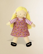 Soft and sweet, this jersey knit doll with yarn hair comes with a removable outfit and Mary Janes for lots of dressing fun. 18 doll Polyester Imported Recommended for ages 3 and up