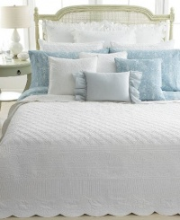 Lauren Ralph Lauren Bedding, Spring Hill Full/Queen Quilt - White