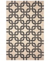 Chain-link chic! Liora Manne combines hand-hooking and hand-tufting techniques to achieve the rich, textural surface of this oatmeal and black indoor/outdoor rug from the Promenade collection. UV stabilized to minimize fading, the elegant and durable rug is sure to please. Hose off for easy cleaning.