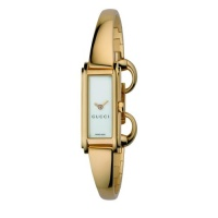 Gucci Women's YA109525 G-Line Gold-Plated White Dial Watch