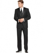 Quit renting and invest in formal wear that actually fits you with this Hart Shaffner & Marx tuxedo.