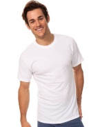 Classic Tall Men's White Crew Neck T-Shirt 2-Pack