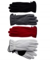 Your go-to gloves for winter. Casual and cozy, a gathered wrist keeps the chill out of these cozy fleece gloves by Style&co.