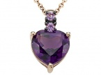 Genuine Amethyst Pendant by Effy Collection® in 14 kt Rose Gold LIFETIME WARRANTY