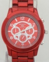 Mark Naimer Color Domination Red watch Chronograph-Style Look Red Metal Band N Case