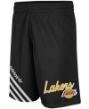 Your opponents will be seeing stars when you are raining threes on them wearing these LA Lakers shorts from adidas.