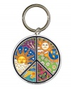 Dan Morris - Exceptionally Designed Peace Keychain - Unique High Quality Metal Keychain - 2