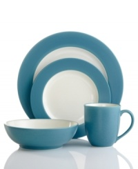 Make everyday meals a little more fun with the Colorwave rim place settings from Noritake. Mix and match classic shapes edged in turquoise with coupe and square pieces for a tabletop that's endlessly stylish.